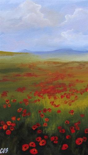 """Poppy Fields"" original fine art by ~ces~ Christine E. S. Code"