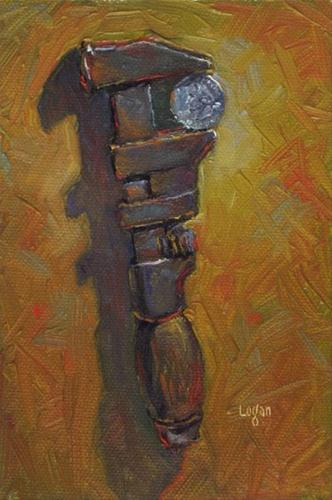 """Quarter Wrench"" original fine art by Raymond Logan"