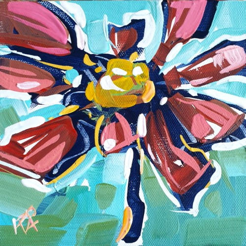 """""""Flower Abstraction 240"""" original fine art by Roger Akesson"""