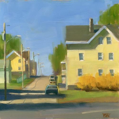 """Forsythia"" original fine art by Kathy Weber"