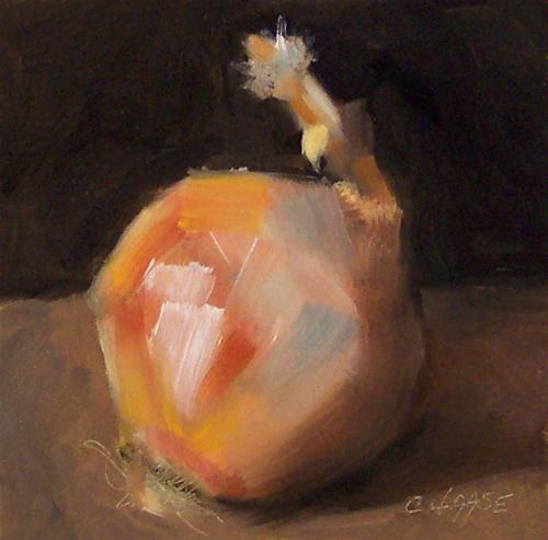 """""""Ode to an Onion"""" original fine art by Cindy Haase"""