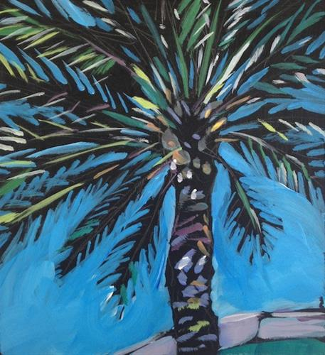 """Starburst Palm"" original fine art by Kat Corrigan"