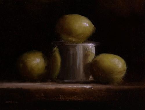 """""""Lemons and Tin"""" original fine art by Neil Carroll"""
