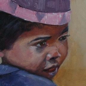 """""""MADAGASCAR BOY"""" original fine art by Linda Popple"""