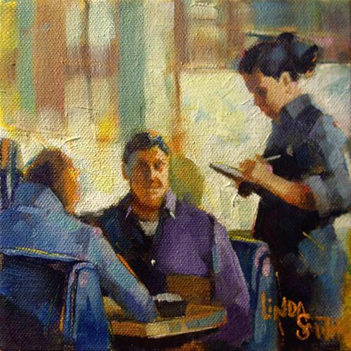 """Ordering"" original fine art by Linda K Smith"