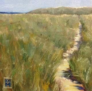 """The Path, 6x6 inch Oil Painting by Kelley MacDonald"" original fine art by Kelley MacDonald"