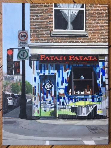 """Patati Patata (Montreal)"" original fine art by Andre Beaulieu"