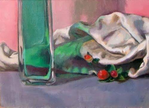 """""""1 - Study in green"""" original fine art by Edward Watson"""