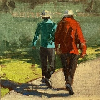"""Winter Walk"" original fine art by Helen Cooper"