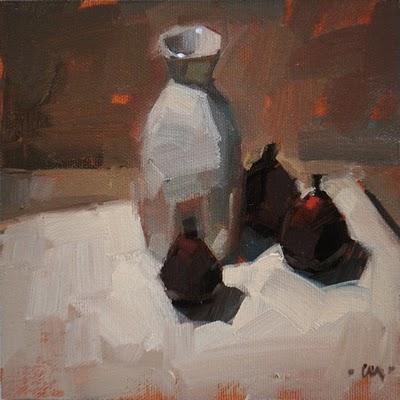 """""""Gather Around"""" original fine art by Carol Marine"""
