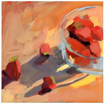 """""""#784 Berries on the Floor (near the door)"""" original fine art by Lisa Daria"""