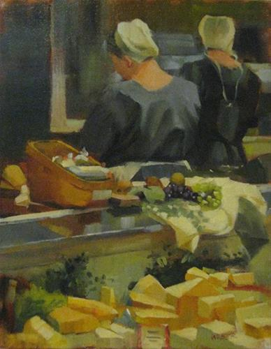 """Cheese"" original fine art by Kathy Weber"