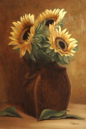 """Basket of Sunshine #602"" original fine art by Dee Lessard"