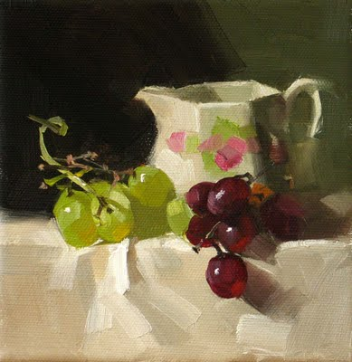 """Grape Tango --- Sold"" original fine art by Qiang Huang"