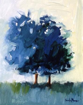 """""""Two Blue"""" original fine art by Pamela Munger"""