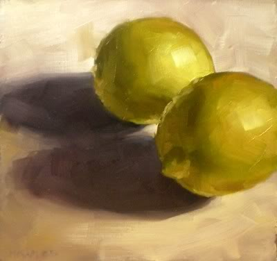 """Two Lemons"" original fine art by Michael Naples"