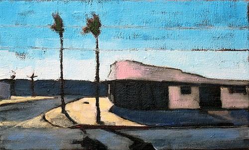 """Coronado Palms"" original fine art by Kevin Inman"