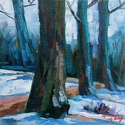 """Noch ist Winter"" original fine art by Jurij Frey"
