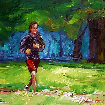 """jogger"" original fine art by Jurij Frey"