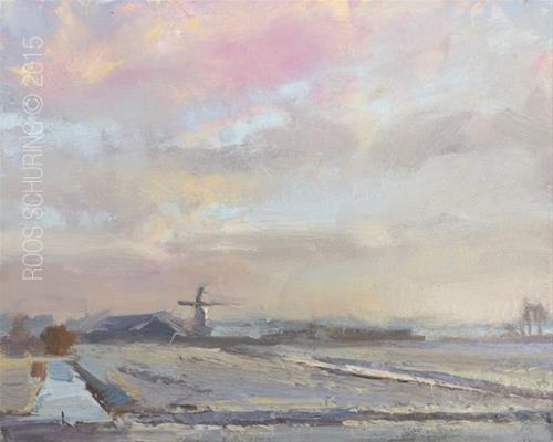 """""""Winter's Day Morning"""" original fine art by Roos Schuring"""