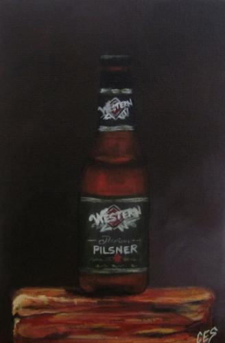 """Great Western Pilsner"" original fine art by ~ces~ Christine E. S. Code"