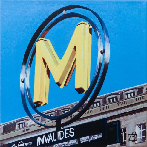 """Metro Invalides"" original fine art by Andre Beaulieu"