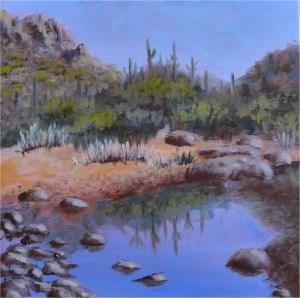 """""""Desert Reflections"""" original fine art by Robert Frankis"""