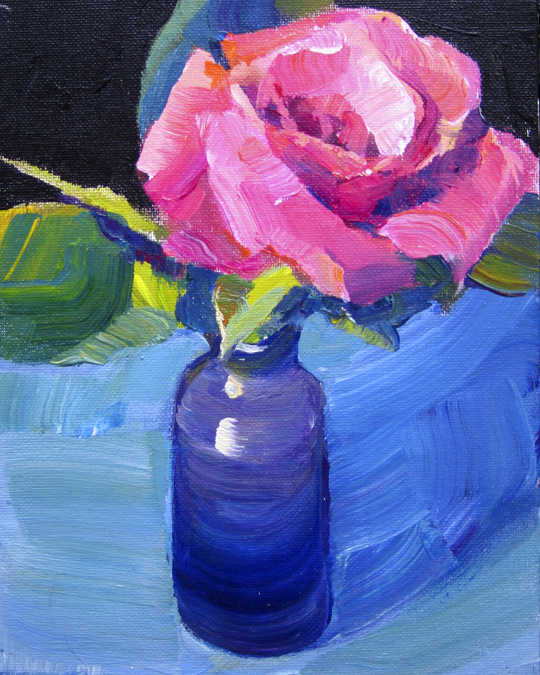 """Red Rose"" original fine art by Patti Mollica"