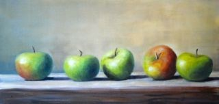 """Little Lady Apples"" original fine art by Christina Dowdy"