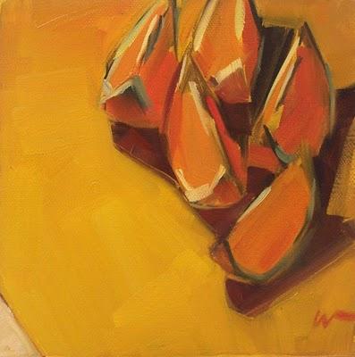 """Herding Slices --- SOLD"" original fine art by Carol Marine"