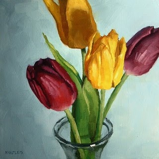 """Tulips"" original fine art by Michael Naples"