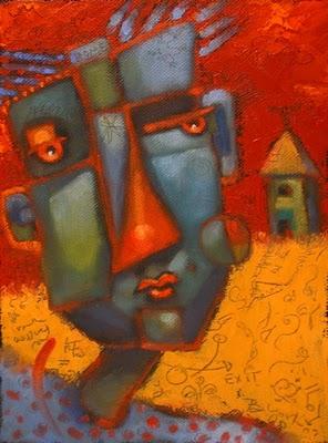 """Home Fires Burning"" original fine art by Brenda York"