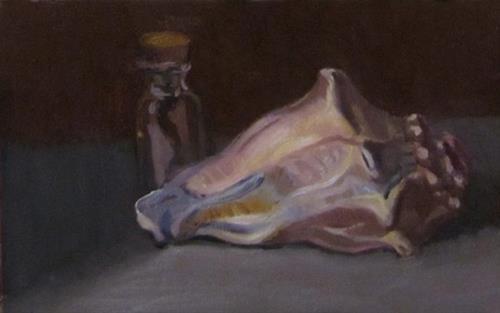 """""""69 - Shell and Bottle"""" original fine art by Edward Watson"""