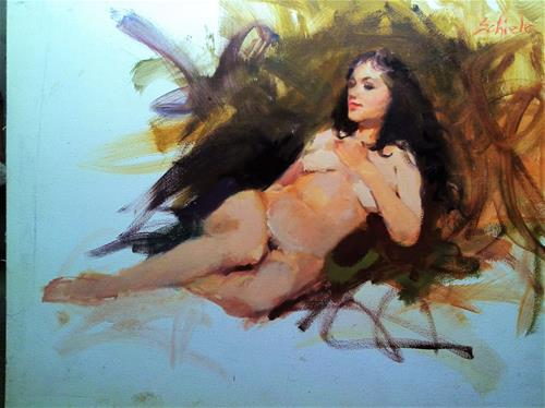"""nude sketch"" original fine art by Richard Schiele"