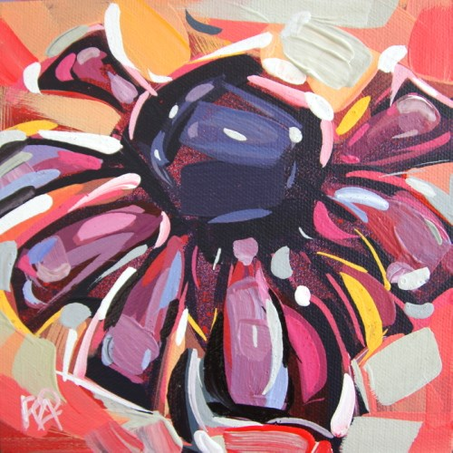 """Flower abstraction 202"" original fine art by Roger Akesson"