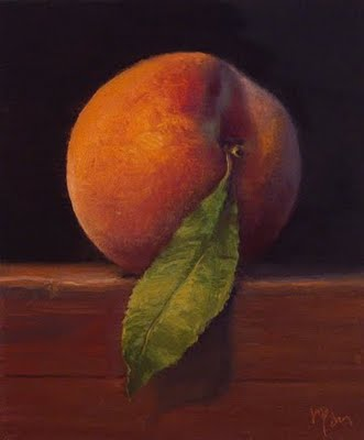 """Fresh-picked Peach"" original fine art by Abbey Ryan"