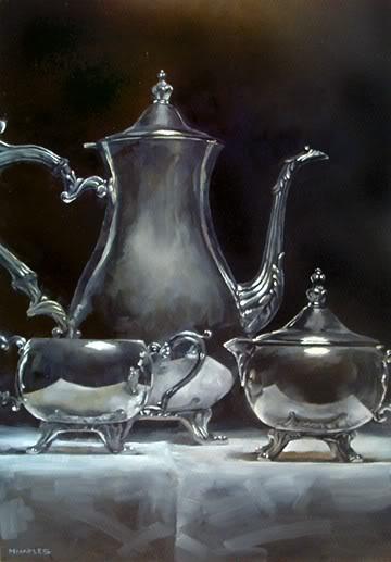 """""""Teapot Reflections"""" original fine art by Michael Naples"""