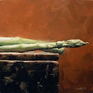 """Asparagus (right)"" original fine art by Michael Naples"