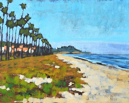 """Santa Barbara Beach"" original fine art by Kevin Inman"