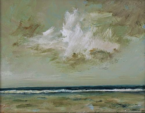 """""""Stormy Monday, Beach and Ocean Paintings by Arizona Artist Amy Whitehouse"""" original fine art by Amy Whitehouse"""