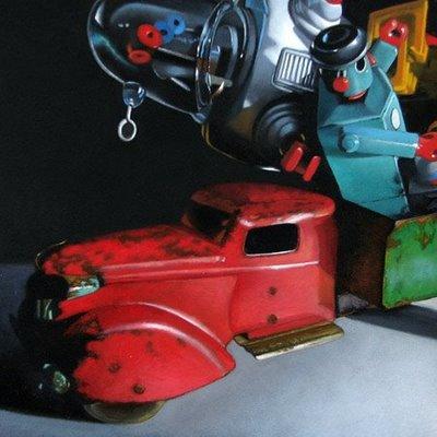 """Hauling Bots 6x6"" original fine art by M Collier"