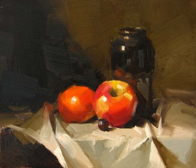 """""""Red and Black --- Sold"""" original fine art by Qiang Huang"""