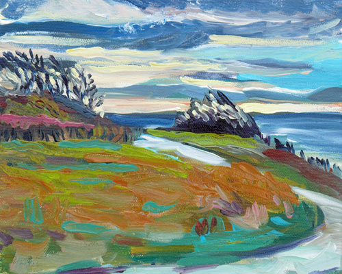 """Holland Point"" original fine art by Darlene Young"