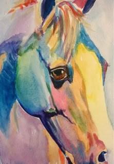 """Day 5 - Paint Pony"" original fine art by Lyn Gill"