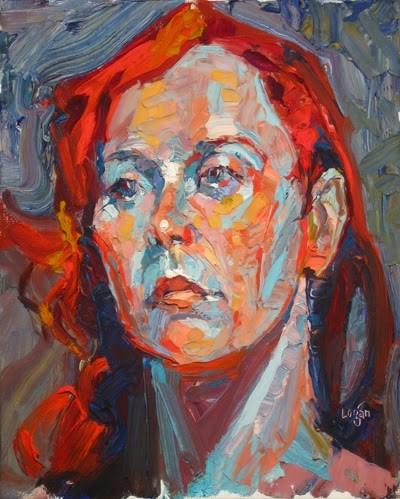"""Aryiel"" original fine art by Raymond Logan"