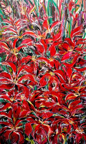 """Flowers of Rainforest"" original fine art by Khrystyna Kozyuk"