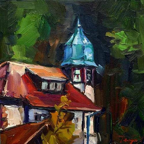 """""""Irgendwo in Heidelberg"""" original fine art by Jurij Frey"""