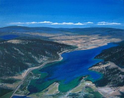 """1003 - Kalamalka Lake of Many Colours"" original fine art by Sea Dean"