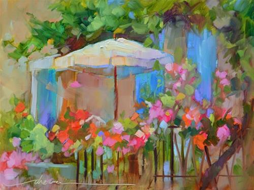 """""""Shady Business in France"""" original fine art by Dreama Tolle Perry"""