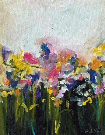 """""""flower field"""" original fine art by Pamela Munger"""